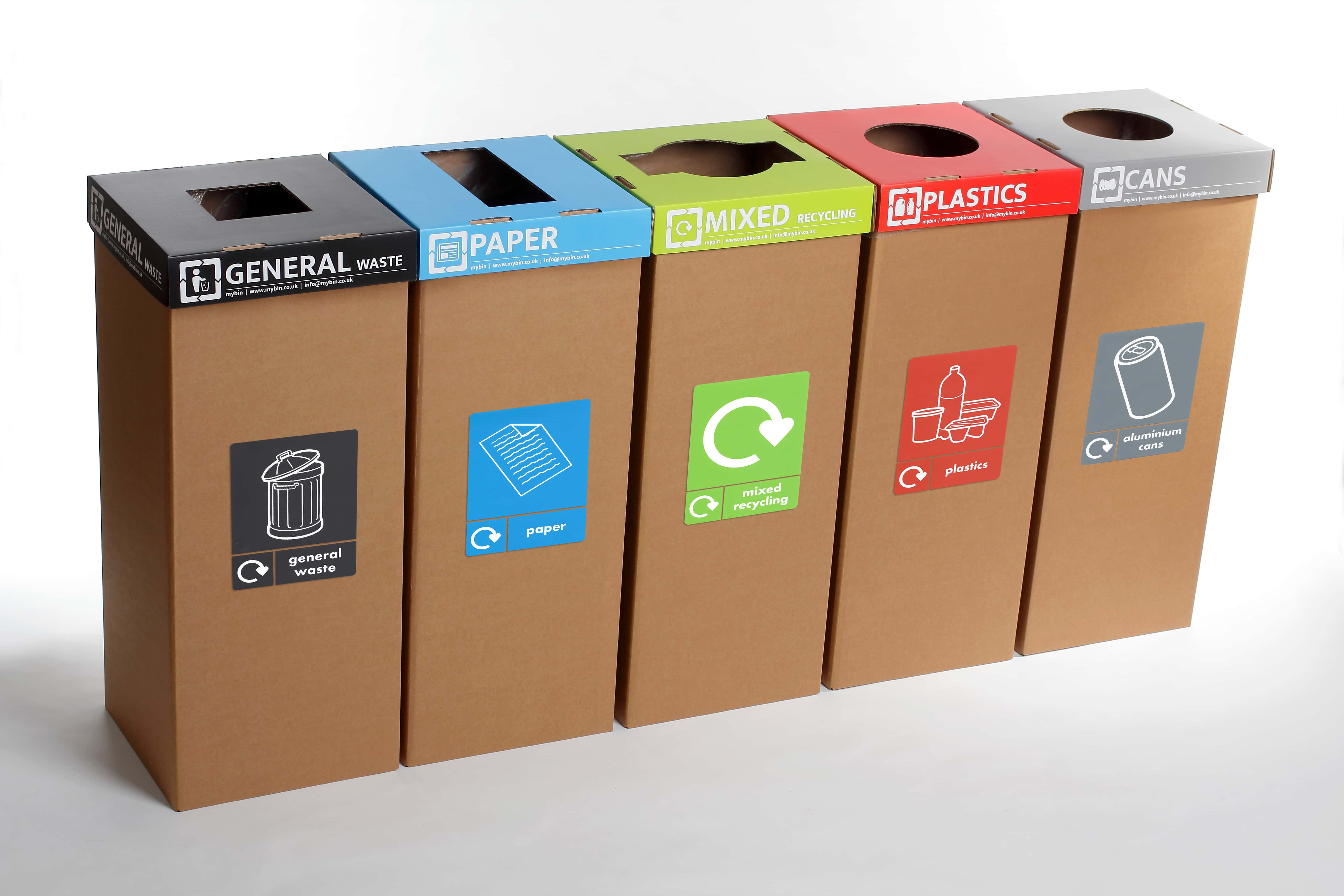 instructions for which recycle bin to use