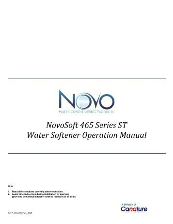 Aqua systems water softener owners manual